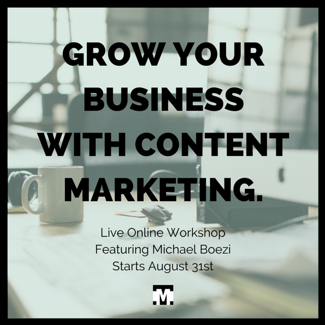 Content Marketing, Inbound Marketing, Social Media Marketing, Marketing, Online course, Online Workshop, Business, Strategy, Content Strategy