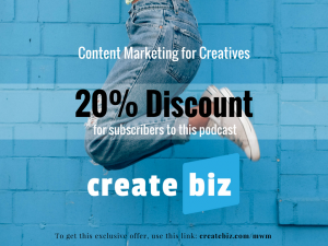 CreateBiz, discount, helping writers, helping musicians, helping artists, creatives, creative business