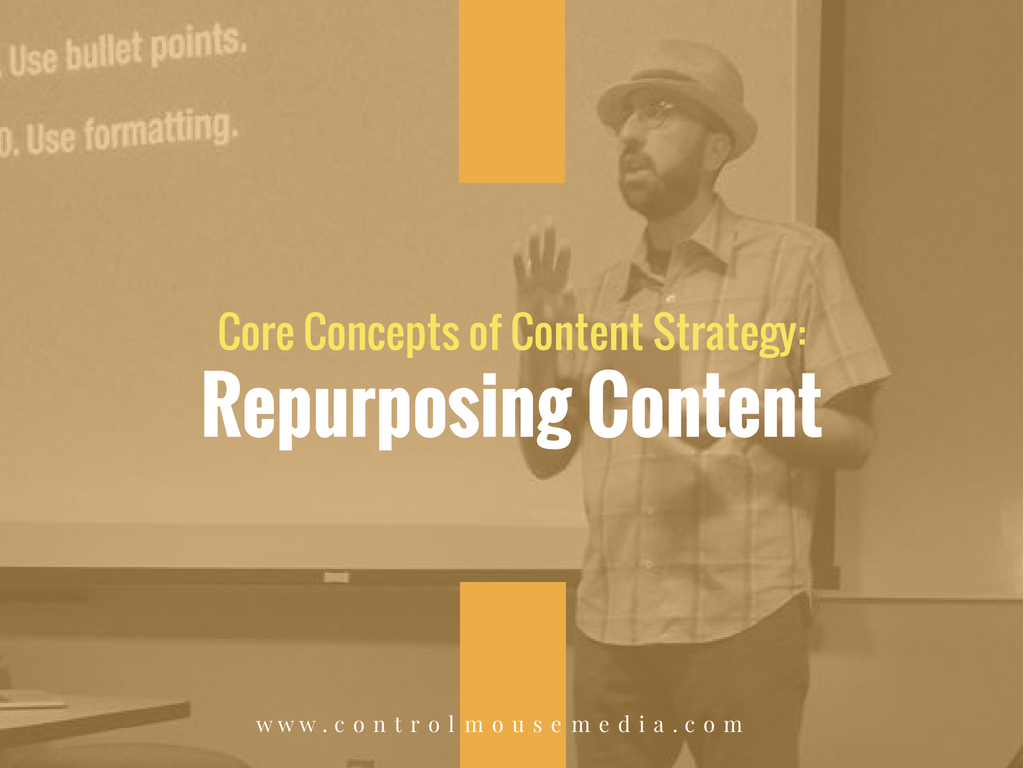Learn the basics of repurposing content for small business in this online course from Michael Boezi, Owner and Managing Director of Control Mouse Media, LLC.