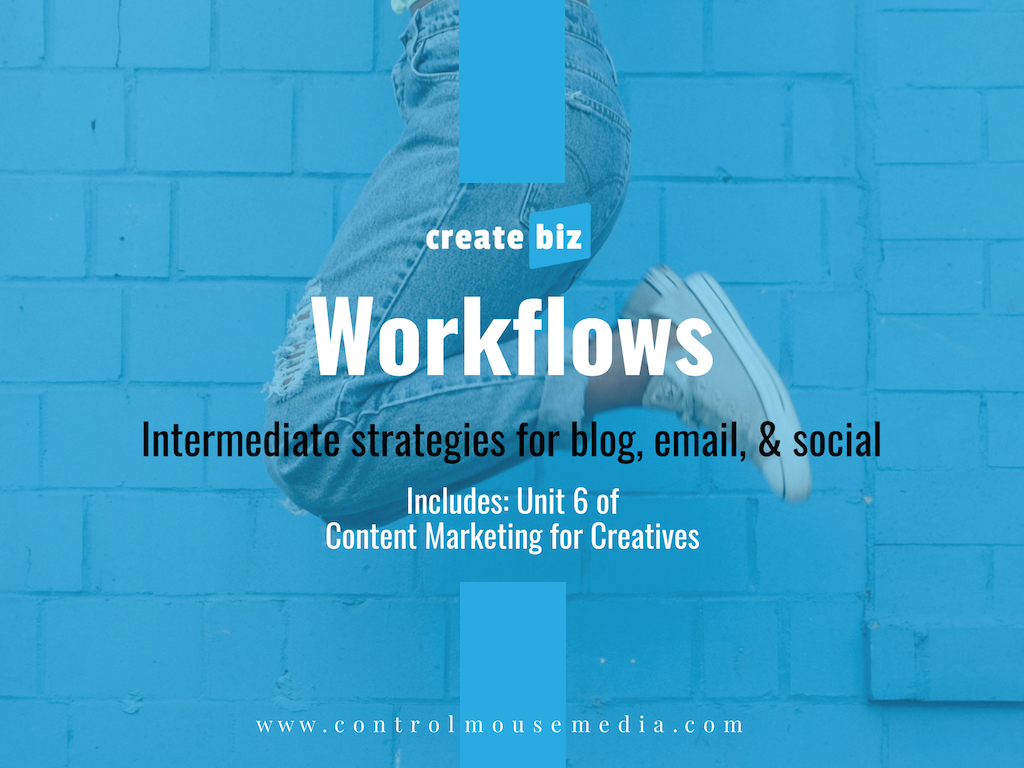 Learn how to integrate your blog, email, and social into systematic workflows so you can get more efficient in your marketing.