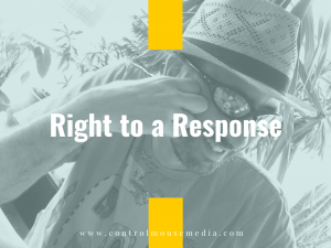Do you have a right to a response?